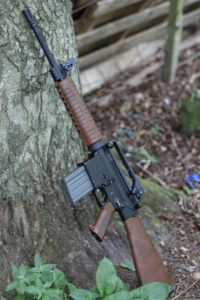 An AR10a4 with bakelite furniture